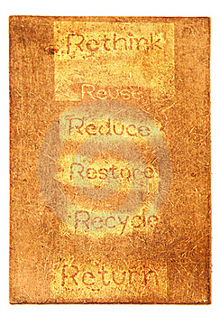 Six Ecological Phrases - Rethink-Reuse-reduce-rest Stock Photography - Image: 19261302