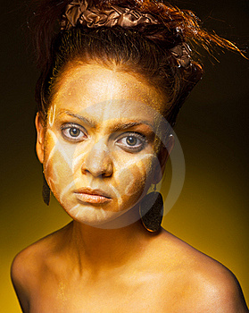 Exotic African Female Fashion Face Stock Photography - Image: 19264202