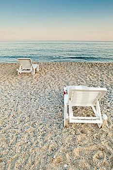 Sunbeds On A Beach Stock Photos - Image: 19264353
