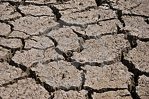 Dry Cracked Riverbed Royalty Free Stock Photography - Image: 19268377