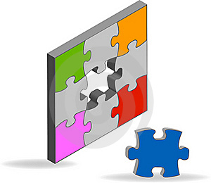 Puzzle Solution Royalty Free Stock Photography - Image: 19268637