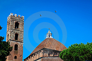 Church Dome And Bell Tower Stock Photography - Image: 19269472