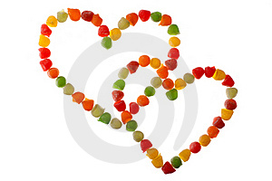 Candies In Love Shape Royalty Free Stock Photo - Image: 19270045