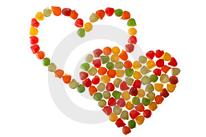 Candies In Love Shape Stock Images - Image: 19270064