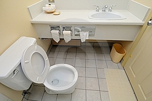 Bright And White Toilet Royalty Free Stock Images - Image: 19270139