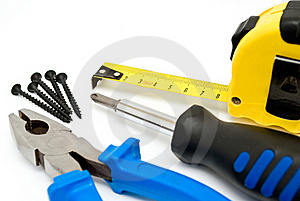 Screwdriver And Pliers Royalty Free Stock Images - Image: 19270199