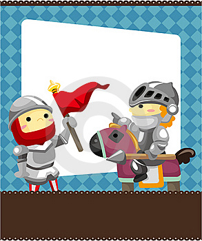 Cartoon Knight Card Stock Image - Image: 19270701