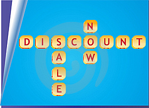3d Discount Sale Cubes Royalty Free Stock Photos - Image: 19270718