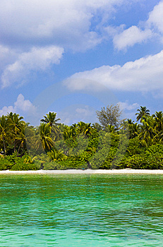 Tropical Beach At Maldives Stock Image - Image: 19270941