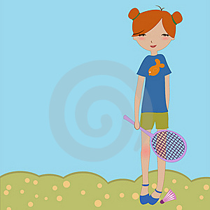 The Little Girl Playing Outdoors Stock Images - Image: 19271604