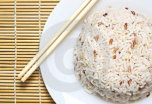 Steam Rice With Chopstick Royalty Free Stock Images - Image: 19273979