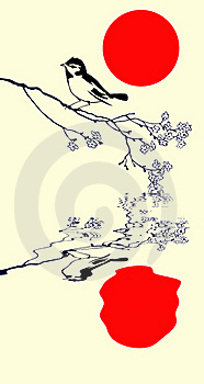 Vector Silhouette Of The Bird Stock Image - Image: 19274851