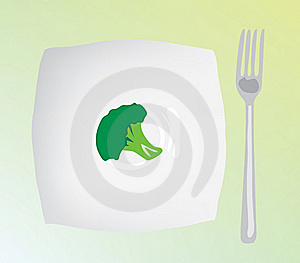 A Dietary Food. Dietary Cabbage On A Plate Royalty Free Stock Images - Image: 19275019