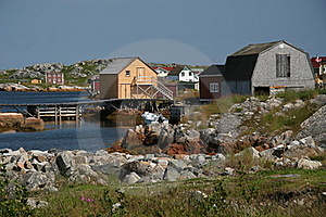 Old-Time Fishing Village Royalty Free Stock Photo - Image: 19280015
