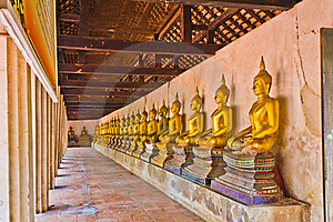 Row Of Buddha Image. Stock Photo - Image: 19282040