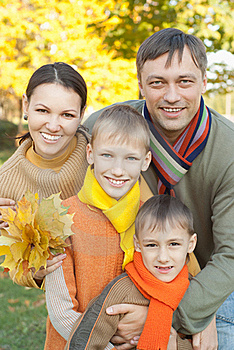 Portrait Of A Nice Family Stock Photography - Image: 19283522
