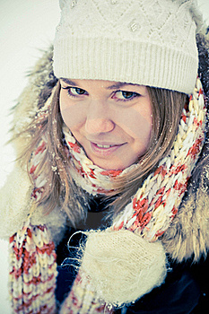Woman In Wintry Coat Stock Photography - Image: 19287802