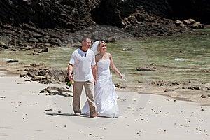 Honeymoon On The Beach Royalty Free Stock Photos - Image: 19289108