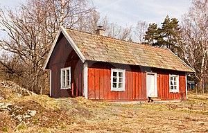 Idyllic Swedish House. Royalty Free Stock Photography - Image: 19290257