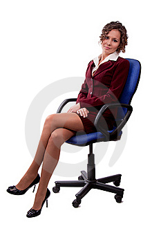 Business Woman Sitting On A Chair. Royalty Free Stock Images - Image: 19290579