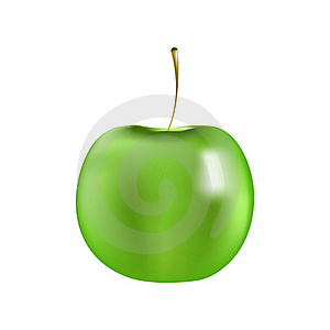 Juicy Green Apple Royalty Free Stock Photos - Image: 19295428