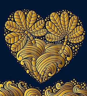 Gold Emblem Heart Stock Photo - Image: 19297260