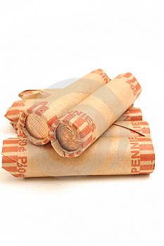 Rolled Pennies Vertical Stock Image - Image: 1930251