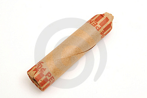 Single Roll Of Pennies Stock Photo - Image: 1930260