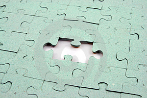 Jigsaw One Bit Out Stock Photography