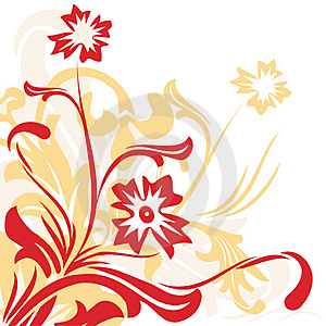 Floral background - vector Royalty Free Stock Photos