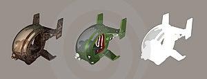 Futuristic Chopper Stock Image - Image: 1937811