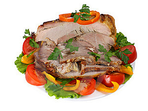 Fried Meat With Vegetables Stock Photos - Image: 19300253