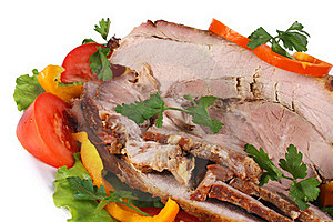 Fried Meat With Vegetables Royalty Free Stock Photos - Image: 19300278