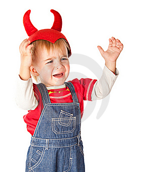 A Crying Boy In A Funny Hat Royalty Free Stock Image - Image: 19300606