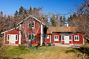 Old Rural House In Sweden. Royalty Free Stock Photography - Image: 19303807