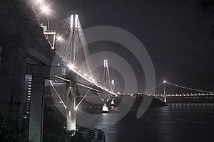 Ting Kau Bridge In Hong Kong Royalty Free Stock Image - Image: 19304406