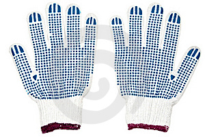 Pair Of New Work Gloves Royalty Free Stock Image - Image: 19308216
