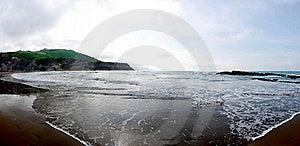 Zumaia Beach Panorama Stock Images - Image: 19309504