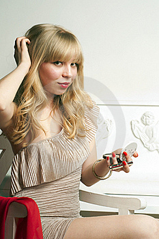 Coquette Pretty Blond Girl Stock Images - Image: 19313154