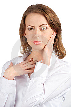 Portrait Of Surprised Attractive Businesswoman Royalty Free Stock Photo - Image: 19313715