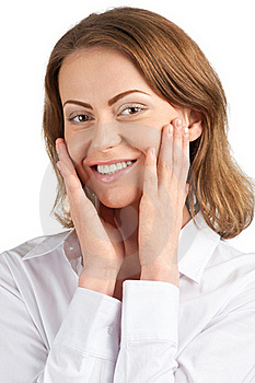 Portrait Of Surprised Attractive Businesswoman Royalty Free Stock Photos - Image: 19313718