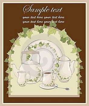 Illustrations Coffee Pot And Teapot And Spoon And Stock Photography - Image: 19317642