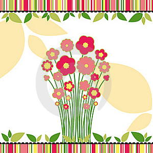 Springtime Love Greeting Card With Flowers Stock Image - Image: 19317681
