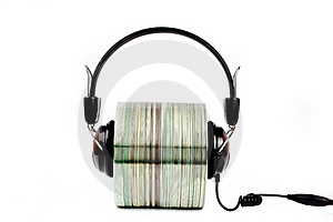 Cd With Headphones Clamped  Stock Photos - Image: 19317773