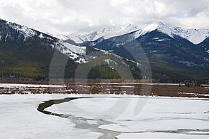 Vermilion Lake Frozen Over Royalty Free Stock Photography - Image: 19318027