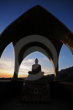 Silhouette Of Buddha Royalty Free Stock Photo - Image: 19318575