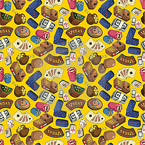 Seamless Cartoon Casion Pattern Royalty Free Stock Images - Image: 19319579