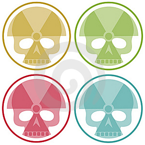 Four Nuclear Skulls Royalty Free Stock Photos - Image: 19319628