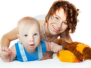 Baby Boy With Pretty Mother Stock Photos - Image: 19321683