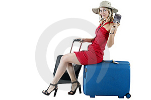 Traveling Woman Royalty Free Stock Image - Image: 19322856